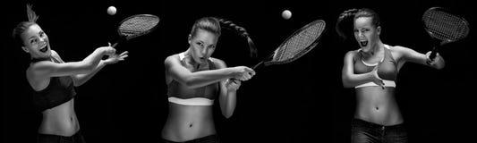 Het tennisspeler van de vrouw Stock Fotografie