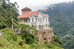 Het Tequendamamuseum in Tequendama valt dichtbij Bogota, Colombia royalty-vrije stock afbeelding