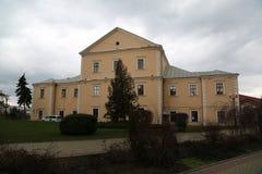 Het Ternopil-Kasteel - bolwerk in Ternopil-stad in de westelijke Oekraïne Het kasteel werd 16de eeuw ingebouwd om zuidelijk te be stock foto's