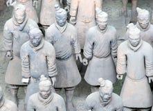 Het Terracottaleger van de Qindynastie, Xian (Sian), China Stock Afbeelding