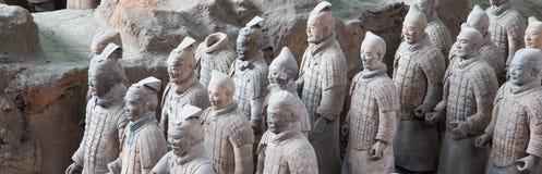 Het Terracottaleger van de Qindynastie, Xian (Sian), China Stock Foto's