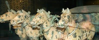 Het Terracottaleger van de Qindynastie, Xian (Sian), China Stock Afbeeldingen
