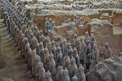 Het Terracottaleger in Xian, China Stock Foto's