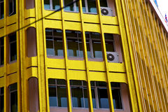 het terras Thailand van Bangkok in bureau markeert moderne buildi Stock Afbeeldingen