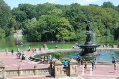 Het Terras van Bethesda in Central Park, de Stad van New York royalty-vrije stock foto's