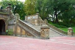 Het Terras van Bethesda, Central Park, NY Stock Fotografie