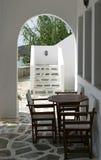 Het terras van Cycladic Stock Foto