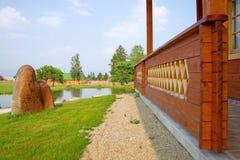 Het terras van de binnenplaats Royalty-vrije Stock Foto