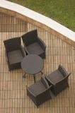 Het terras van de koffie Stock Afbeeldingen