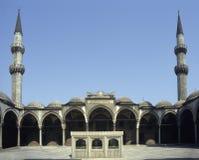 Het terras van de moskee stock foto
