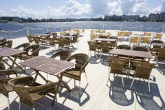Het terras van de zomer in koffie Royalty-vrije Stock Afbeelding