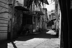 Het terras van Haifa, straatmening, stad van de binnenstad, de oude royalty-vrije stock foto