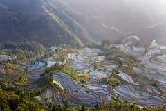 Het terras van Hani, Yunnan, China07 Royalty-vrije Stock Foto's