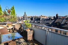 Het terras van het dak, Stockholm Royalty-vrije Stock Afbeelding
