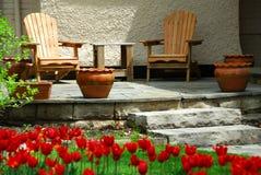 Het terras van het huis Royalty-vrije Stock Afbeelding