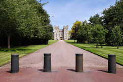 Het Terras van het oosten van Kasteel Windsor in Engeland Stock Foto