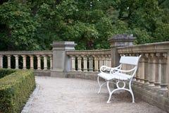 Het terras van het park Stock Afbeeldingen