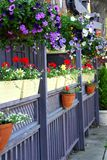 Het terras van het restaurant royalty-vrije stock fotografie