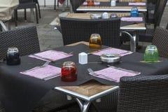 Het Terras van het restaurant Royalty-vrije Stock Afbeeldingen