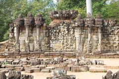 Het terras van Olifanten in Angkor Thom - Kambodja Royalty-vrije Stock Afbeelding