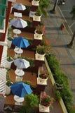 Het terrasruimte van het hotel Stock Fotografie