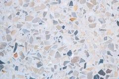 Het terrazzo poetste van de steenvloer en muur patroon en het marmer van de kleurenoppervlakte en granietsteen, materiaal voor de stock fotografie