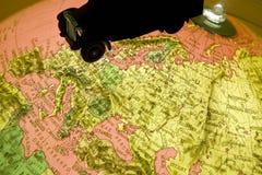 Het terrein van de kaart Royalty-vrije Stock Afbeeldingen
