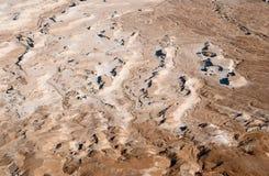Het terrein van de woestijn in Dood overzees gebied Stock Foto