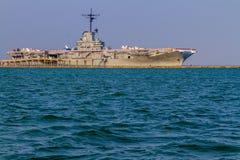 Het Teruggetrokken Vliegdekschip USS Lexington van WO.II royalty-vrije stock afbeeldingen