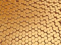 Het teruggeven van abstracte metaal gouden nano achtergrond Royalty-vrije Stock Afbeeldingen