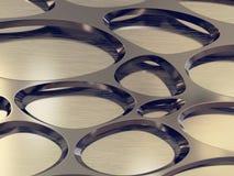 Het teruggeven van zilveren metaalnetachtergrond Stock Afbeeldingen
