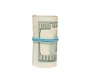 Het terugschroeven van prijzen 100 dollarsrekeningen Stock Afbeelding