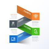 Het terugtrekken van contant geld van abstracte infographics van ATM te royalty-vrije illustratie