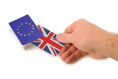 Het terugtrekken zich van de EU Stock Foto's