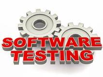 Het testen van de software stock illustratie