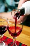 Het testen van de wijn in Hongarije Stock Fotografie