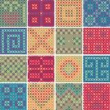 Het textiel naadloze patroon PLAATSTE Nr 8 Royalty-vrije Stock Afbeelding