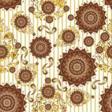Het textiel Naadloze patroonontwerp voor vrouw draagt Stock Afbeelding