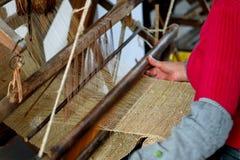 Het textiellinnen van de hand Stock Foto's