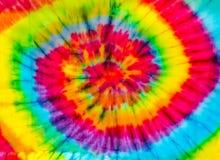 het textielpatroon van de bandkleurstof royalty-vrije stock foto