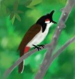 Het Thaise beeld van de vogeltekening Stock Afbeeldingen