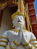 Het Thaise Beeldhouwwerk van de Tempel royalty-vrije stock afbeelding