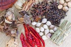 Het Thaise concept van voedselrecepten voor gezondheid Royalty-vrije Stock Foto