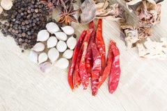 Het Thaise concept van voedselrecepten voor gezondheid Stock Foto