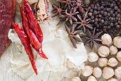 Het Thaise concept van voedselrecepten voor gezondheid Royalty-vrije Stock Fotografie
