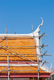 Het Thaise dak van de Tempel Royalty-vrije Stock Foto