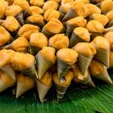 Het Thaise die dessert van ` s van suikerpalm wordt gemaakt stock foto