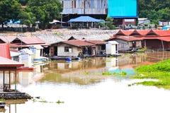 Het Thaise Drijvende Huis van de Stijl Stock Foto