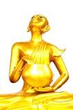 Het Thaise Gouden Standbeeld van Boedha Royalty-vrije Stock Fotografie
