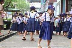 Het Thaise kamp van de studentenverkenner stock afbeelding